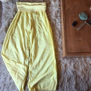 Hard Tail Forever Yellow Palazzo Pants